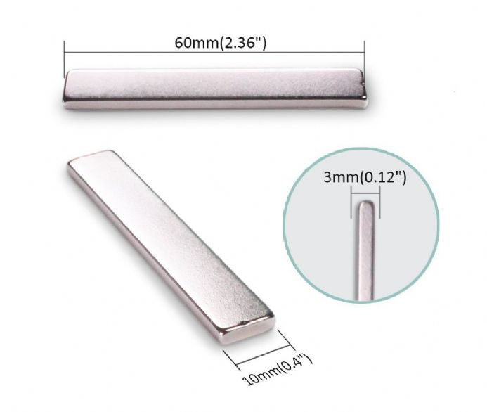Thick neodymium bar magnet